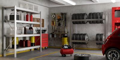 Scaffali Box Auto.Organizzare Il Garage Soluzioni Box Leroy Merlin