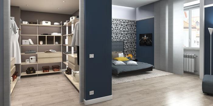 Organizzare la camera da letto con una cabina armadio e ottimizzare ...