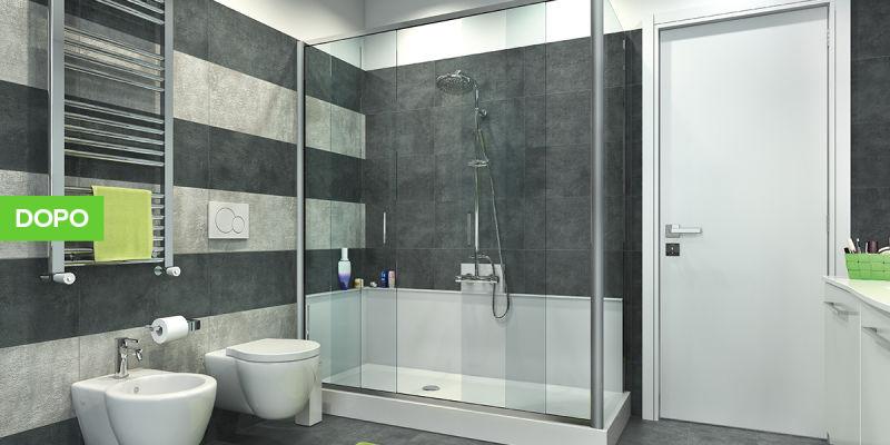 idee per ristrutturare un bagno: trasformare la vasca in doccia - Bagni Moderni Leroy Merlin