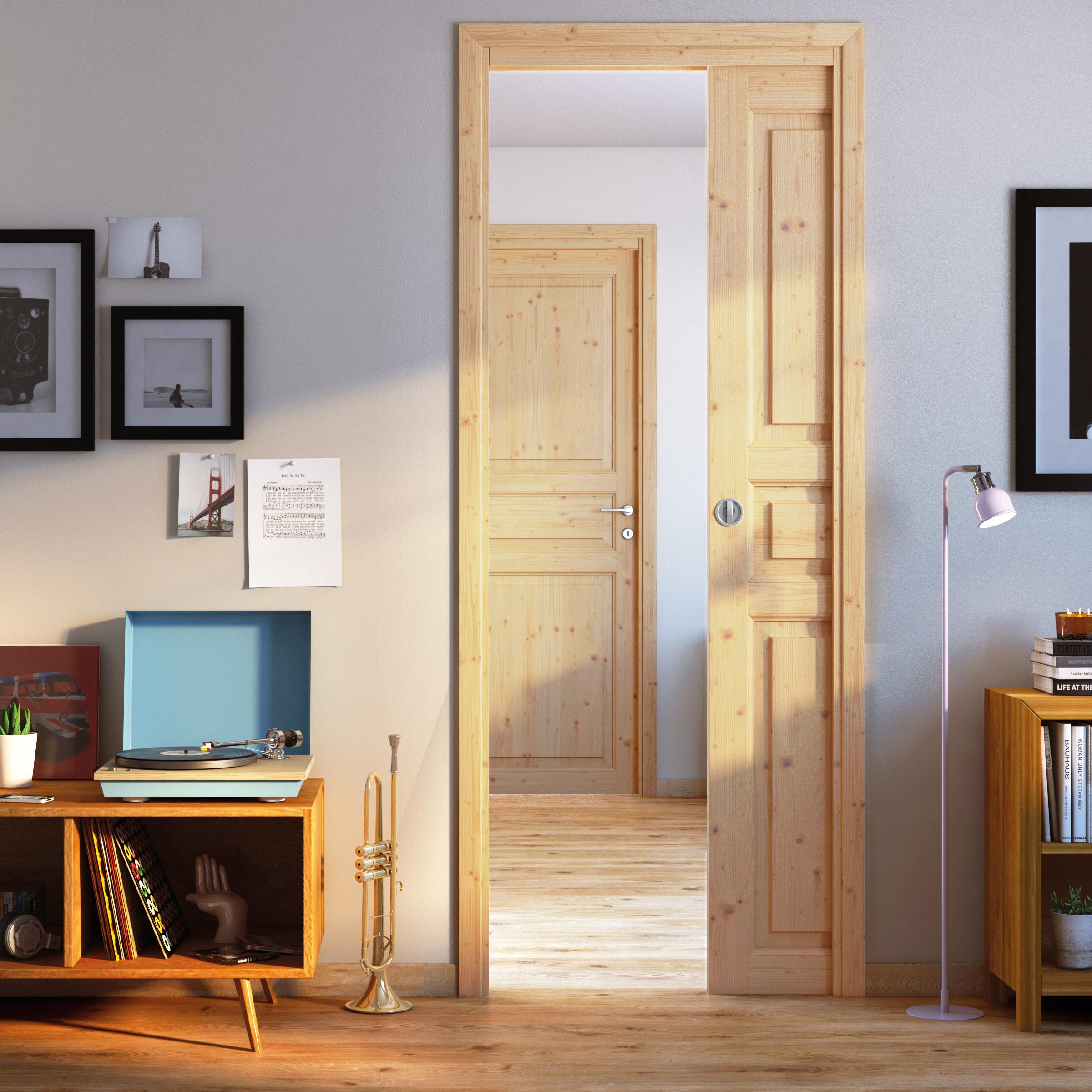 Porta da interno battente Beethoven grezza 80 x H 210 cm reversibile ...