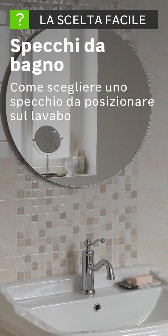Specchio bagno con luce led o senza luce prezzi e offerte - Specchi da terra leroy merlin ...
