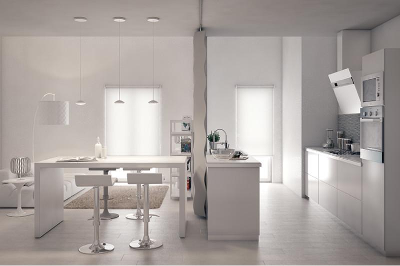 Come arredare un open space cucina soggiorno fai da te leroy merlin - Open space cucina soggiorno ...