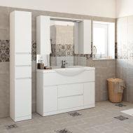 mobili bagno: prezzi e offerte mobiletti bagno sospesi o a terra - Armadio A Muro Leroy Merlin