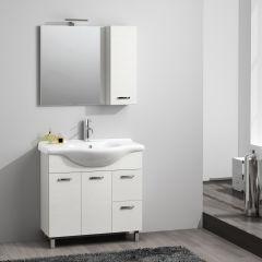 bagno mobile bagno nicole bianco frassino l 85 cm 35963641