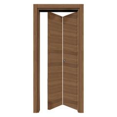 Porta da interno pieghevole operahouse cacao 80 x h 210 cm for Porta pieghevole a libro leroy merlin