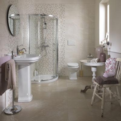 Piastrella Marfil 20 x 50 cm bianco, grigio: prezzi e offerte online