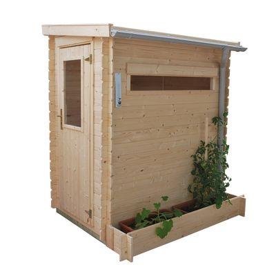 casetta in legno grezzo mini garden 1,61 m², spessore 19 mm: prezzi