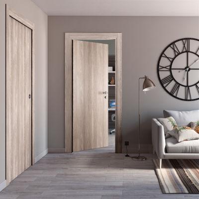 Porta da interno scorrevole Plank 80 x H 210 cm reversibile: prezzi ...