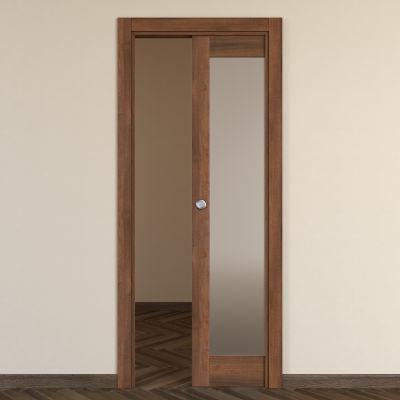 Porta da interno scorrevole Vei noce 80 x H 210 cm reversibile ...
