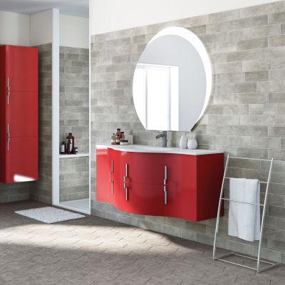 Mobile bagno Sting rosso L 138 cm: prezzi e offerte online