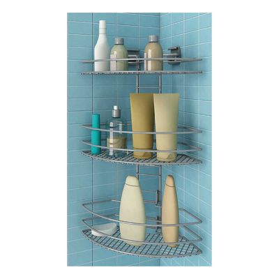 bagno mensola doccia angolare flp a3 angoliera da bagno modulare e regolabile 3 ripiani