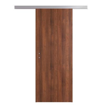 Porta da interno scorrevole One walnut noce 90 x H 210 cm ...