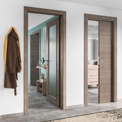 Porta da interno pieghevole Stylish grigio 70 x H 210 cm dx: prezzi ...