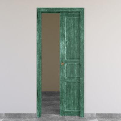 Porta da interno scorrevole Old Town verde 70 x H 210 cm reversibile ...