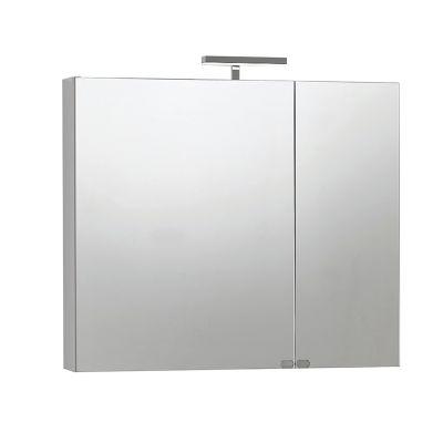 Armadietto a specchio Giada L 81 x H 70 x P 15 cm bianco lucido ...