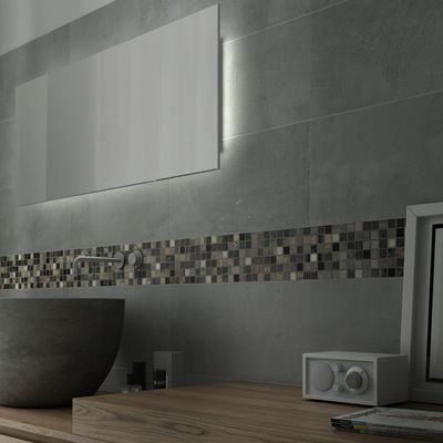 Best mosaico bagno prezzi gallery - Mosaico grigio bagno ...