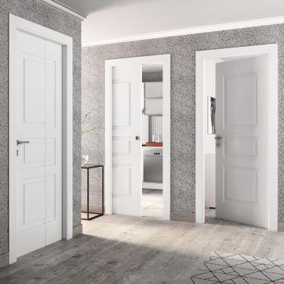 Porta da interno battente Alioth bianco 80 x H 210 cm sx: prezzi e ...