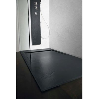 piatto doccia resina river 100 x 70 cm antracite: prezzi e offerte