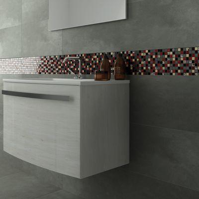 Mosaico Red & Dark 30 x 30 cm nero, grigio, rosso, oro: prezzi e ...