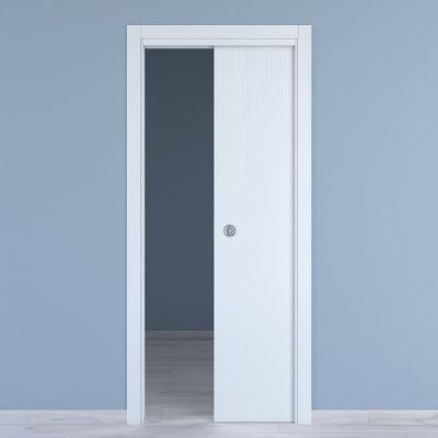 Porta da interno scorrevole Renoir bianco venato 60 x H 210 cm ...