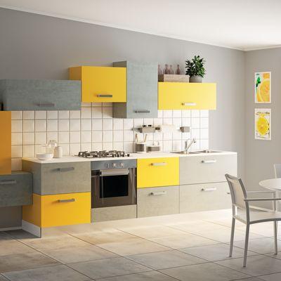 Piano cucina su misura laminato luna bianco 2 cm prezzi e for Piano cottura 5 fuochi leroy merlin