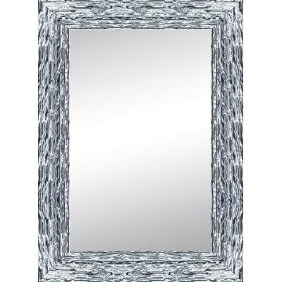 Specchio da parete rettangolare teresa argento 100 x 140 for Specchio da parete argento