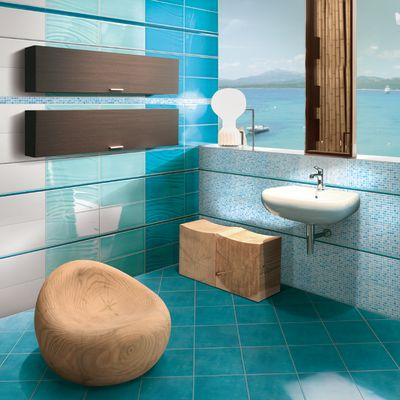 Stencil per piastrelle bagno interesting mattonelle with for Decorare piastrelle bagno