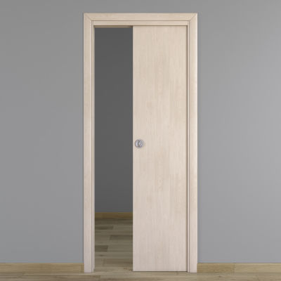 Porta da interno scorrevole notting hill pino sbiancato 80 x h 210 cm reversibile prezzi e - Porta scorrevole da interno ...
