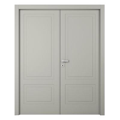 Porta da interno battente Nakano 2 Ante RAL 7044 140 x H 210 cm sx ...