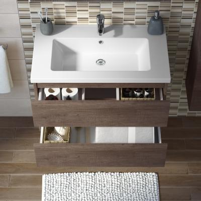 Mobile bagno Kora rovere L 81 cm: prezzi e offerte online