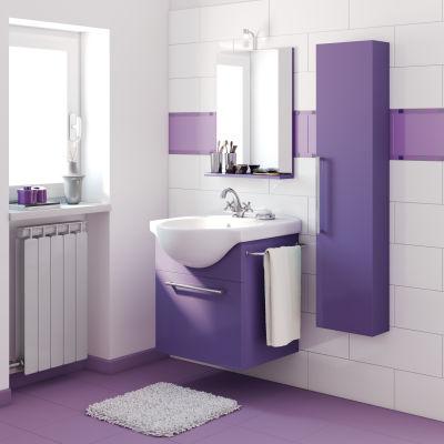 bagno mobile bagno ginevra viola l 58 cm 35552412