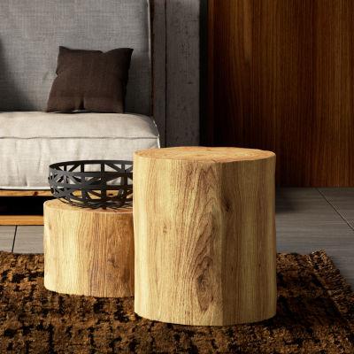 Tronco tondo legno 30 40 x h 45 cm grezzo prezzi e for Tavole legno grezzo leroy merlin