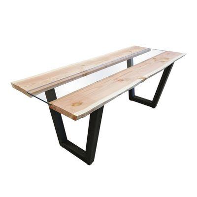 Coppia gambe per tavolo metallo L 70 x P 10 x H 75 cm verniciato ...