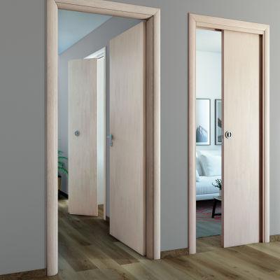 Porta da interno scorrevole notting hill pino sbiancato 70 x h 210 cm reversibile prezzi e - Porta scorrevole da interno ...