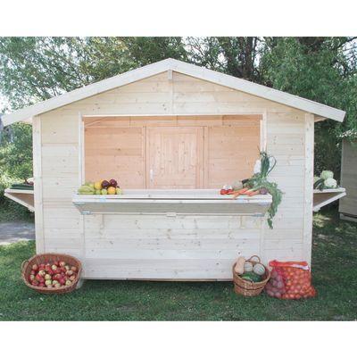 chiosco in legno grezzo Spritz 5,9 m², 3 ribalte: prezzi e offerte ...