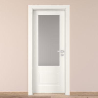 Porta da interno battente Shibuya Vetro Bianco 70 x H 210 cm sx ...