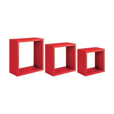 Set 3 cubi Spaceo rosso, sp 1,8 cm: prezzi e offerte online