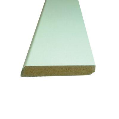 Falegnameria E Edilizia Battiscopa Carta Finish Rivestito Bianco 10 X 70 X  2200 Mm