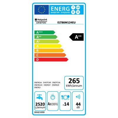 Lavastoviglie da incasso 7 programmi Ariston ELTB 6M 124 EU: prezzi ...