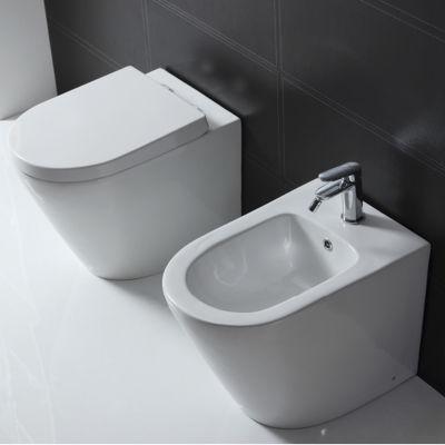 Vaso a pavimento filo muro sensea compacta con sedile soft for Stendibiancheria a muro leroy merlin
