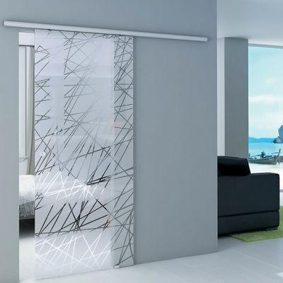 Porta da interno scorrevole Atena Trasparente 86 x H 215 cm ...