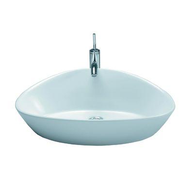 Lavabo da appoggio ovale Elipse L 63 x P 43 x H 19 cm: prezzi e ...