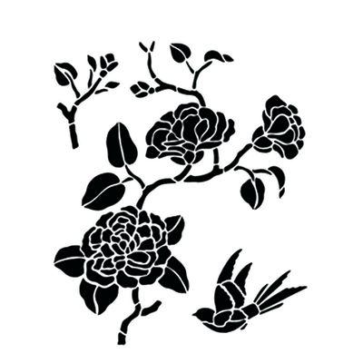 Farfalle Stencil Da Stampare. Disegno Di Farfalle Da Colorare ...
