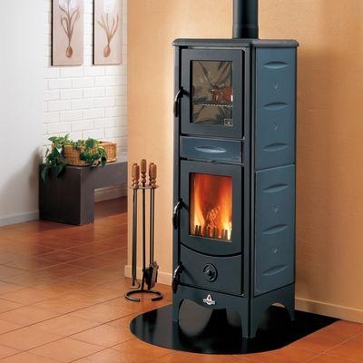 Stufa a legna con forno Milena blu: prezzi e offerte online