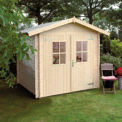 casetta in legno grezzo Dolly 3,45 m², spessore 18 mm: prezzi e ...