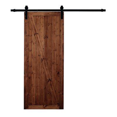 Porta da interno scorrevole Factory noce 86 x H 213 cm reversibile ...