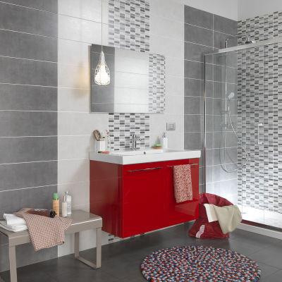 Piastrella sirio 20 x 50 cm grigio prezzi e offerte online for Mattonelle bagno prezzi