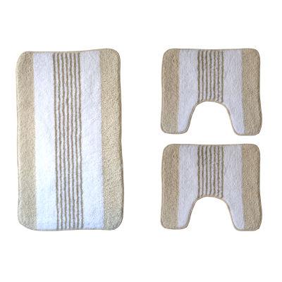 Set tappeti bagno rigatino ecr prezzi e offerte online - Sensea accessori bagno ...