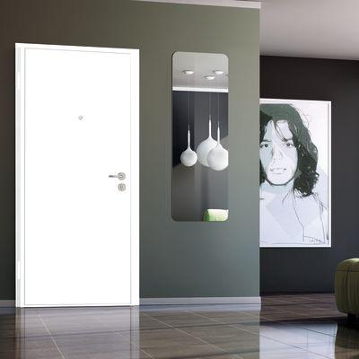 Porta blindata Bicolor bianco- noce L 80 x H 210 cm sx: prezzi e ...
