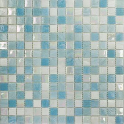 Bagno Mosaico Soft Sky 32,7 X 32,7 Cm Blu, Bianco